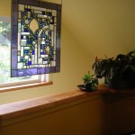The south facing window gives a beautiful mountain view, and lets in plenty of light for the plants.